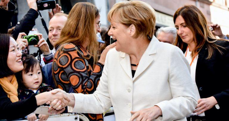 Angela Merkel am Tag der deutschen Einheit