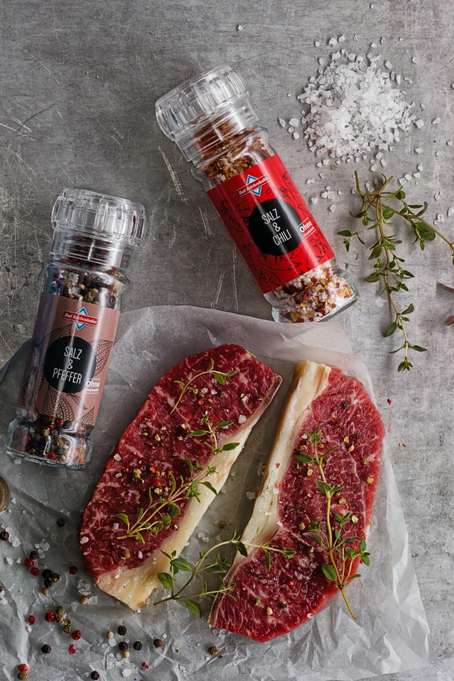 Bad Reichenhaller Gewürze für Steak Flatlay