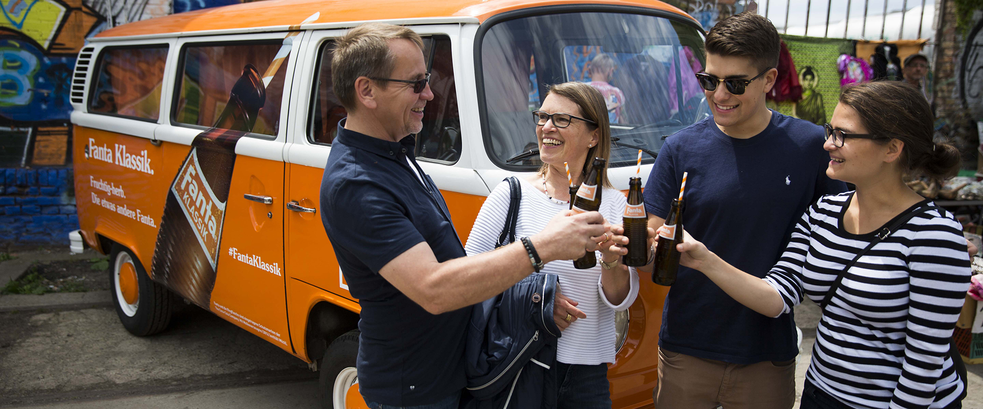 Fanta Klassik Sampling Tour 2016 am 19.6.2016 in Berlin. Foto: Gero Breloer für Coca-Cola GmbH